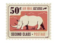 Image result for rhinoceros postage stamps