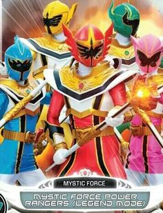 Casually Power rangers mystic force