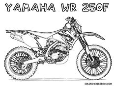 Print Out Coloring Pages | yamaha wr250f dirt bike for kids to print out
