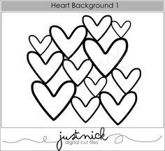 Heart background - digital cut file from justnick.myshopify.com