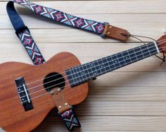 Red Retro Ukulele Strap 3 in 1 by Qilinlibrary on Etsy