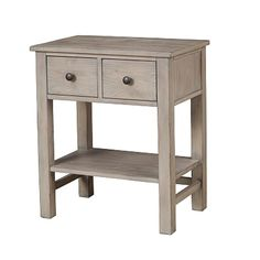 Features: It comes as a single unit.It has a complete wooden construction in a natural gray finish.It has two felt lined top drawers with dovetail construction and ball bearing glides.Overall Dimensions: 16 inches in Length x 24 inches in Width x 28 inches in HeightThe top offers space for the decorative display of vases, photo frames etc.Upholstered - NoNumber of Drawers - 2 Description: Have this transitional nightstand alongside your bed for useful purposes and enhanced overall… 2 Drawer Nightstand, White Nightstand, Nightstands, Space Saving Furniture, Home Furniture, Winsome Wood, End Tables With Storage, Brown And Grey, Storage Spaces