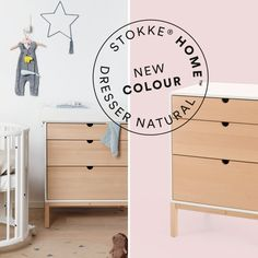 Our Stokke Home Dresser now comes in Natural! Pair it with our Sleepi crib or Home Bed for a complete look⭐ Shop it now👆