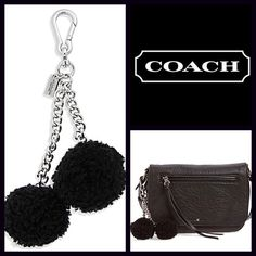 "COACH Genuine Black Pom Pom Bag Shearling Charm  NEW WITH TAGS   COACH Genuine Black Pom Pom Handbag Shearling Charm  Retail Price: $65   * Super genuine shearling fabric   * Silver-tone hardware & chains w/signature Coach logo tag     * About 7"" long.   Fabric: Genuine shearling & silver-tone coated metal.   Color: Black    Item:  No Trades ✅Offers Considered*✅  *Please use the blue 'offer' button to submit an offer. Coach Accessories"