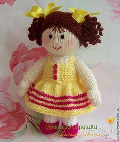 Купить Вязаная куколка - кукла, вязаная кукла, девочка, платье, сарафан, одежда, одежда для куклы ♡