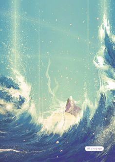 Phượng Cửu (áo trắng) x Đông Hoa (áo tím) - Ngôn tình: Tam sinh tam thế Chẩm Thượng  Thư  - Artist: 伊吹五月 (Ibuki Satsuki) | Periacon Anso