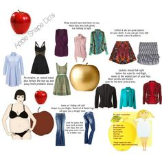 Apple Shape Do's (see description for link for more info) by maryv-1 on Polyvore featuring Charles Anastase, Orla Kiely, Hervé Léger, Elizabeth and James, Emilio Pucci, Jolie Moi, Oscar de la Renta, McQ by Alexander McQueen, Étoile Isabel Marant and J Brand