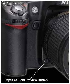 DOF Preview Button on Nikon D90