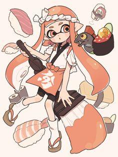 See more 'Splatoon' images on Know Your Meme! Splatoon Games, Nintendo Splatoon, Splatoon 2 Art, Super Smash Bros, Chibi, Salmon Run, Pokemon, Satsuriku No Tenshi, Cute Characters