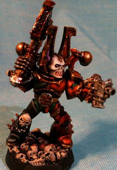 Khorne Bezerker test model by Muskie McKay, that's right I actually paint too, or I did in the past, now I just procrastinate. ;-)