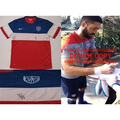 Clint Dempsey USA Mens Soccer Team, FIFA World Cup, Signed, Autographed, USA Soccer Jersey, a COA with the Proof Photo of Clint Signing Will Be Included