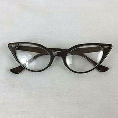 f066413ecf Vintage Bausch Lomb Eyeglasses Cats Eye Rims 15.5 Brown 50 s Catseye   BauschLomb  CatEye