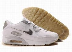 on sale a1936 4e5a6 Ken Griffey Shoes Nike Air Max 90 White Silver Grey  Nike Air Max 90 -  Trendy and comfy Nike Air Max 90 White Silver Grey sneakers feature perfect  design.