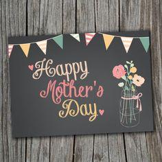 #Cricut - Chalkboard Mother's Day card.