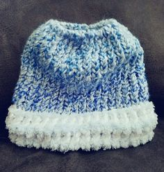Light blue messy bun handmade by LizieWizie Crafty Creations.  #Facebook
