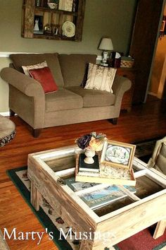 have a home you ll love on a budget home tour from marty s musings, home decor, Living room and a great window table