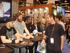 Marc Rizzo (Soulfly), Greg Weeks (The Red Chord), Zoltan, Evan 9 (Powerman 5000), and CJ signing for fans