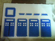 Perler Bead 3D Tardis Pattern