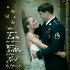 There is no greater love than the one between a soldier and the girl he's fighting for-- for Breanna