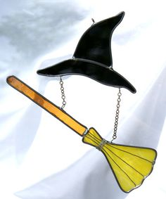 Witch's hat and broom