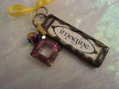 IMAGINE  Soldered ART Glass Pendant or Charm by victoriacharlotte, $9.50