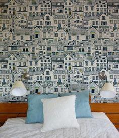 Coastal Cottages Wallpaper by Jessica Hogarth