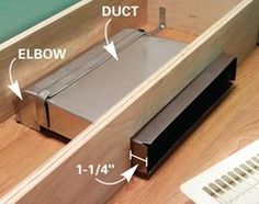 Toe kick ducting kit gets airflow out into the room and out from ...