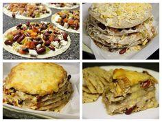 Chicken and Bean Tortilla Stacker