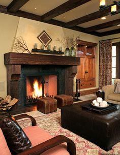 Tallwood Ct - Atherton - rustic - family room - san francisco - Gary J Ahern, AIA - Focal Point Design