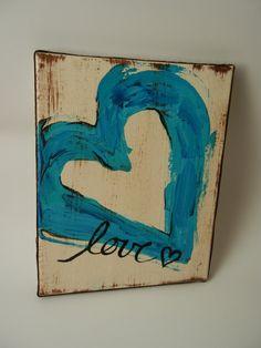 Heart Canvas by mingosmarket on Etsy, $16.00