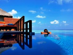 Water Villa with Pool at 5 star hotel: Velassaru Maldives Resort. This hotel's address is: Velassaru Island South Male Atoll Maldives Islands and have 129 rooms Maldives Luxury Resorts, Maldives Vacation, Maldives Resort, Hotels And Resorts, Best Vacation Destinations, Best Vacations, Book A Hotel Room, Hotel Safe, Water Villa