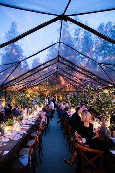 rustic tented wedding reception decor ideas