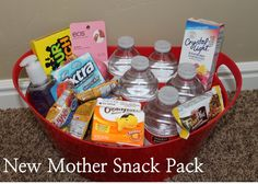 Baby Shower Gift Idea: New Mother Snack Basket