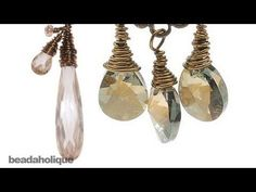How to Wire Wrap A Briolette ~ Wire Jewelry Tutorials Wire Wrapped Jewelry, Metal Jewelry, Beaded Jewelry, Handmade Jewelry, Silver Jewelry, Wire Tutorials, Jewelry Making Tutorials, Bijoux Fil Aluminium, How To Make Earrings