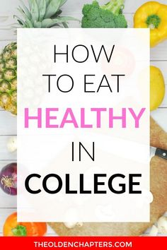 Learn how to conquer college food by creating cheap and healthy meals. Includes a complete system for finding the best healthy recipes, creating grocery lists on a student budget, and the best tools to creating amazing and healthy meals quickly. Healthy College Diet, Ways To Eat Healthy, Good Healthy Recipes, Eating Healthy, Healthy Meals, Healthy Weight, Vegetarian Recipes, Cacao Sampaka, College Meals