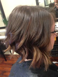 Balayage red and copper bob