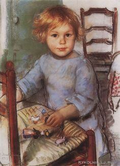 Серебрякова Зинаида Евгеньевна (1884-1967) «Сергей Прокофьев» 1927 Эта работа парижского периода, но пусть будет...with a doll
