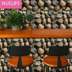0.45x10 Meter simulation stone pattern self - adhesive wallpaper living room bedroom kids house shop decoration wallpaper