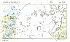 Studio Ghibli Layout Designs - Princesse Mononoke