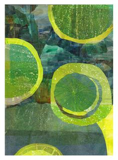 https://flic.kr/p/Bvv7GX | Horticus-1-by-Dudley-Redhead | inspired by my visit to the Horticus Botanicus, Amsterdam. A gelli plate print collage