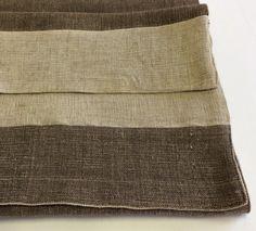 Runner in lino grezzo, double. Colore sabbia /moda.