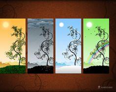 I just love this web site for desktop wallpaper.  www.vladstudio.com