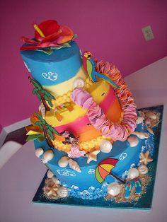Luau cake   Flickr - Photo Sharing!