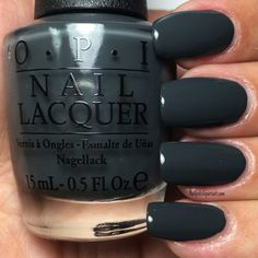 """Liv"" in the Gray (Special edition shade) from the Fall/Winter 2016 Washington D. Collection by OPI Opi Nail Polish Colors, Fall Nail Colors, Opi Nails, Manicures, Washington D C, Colorful Nail Designs, Winter Nails, Fall Nails, Perfect Nails"