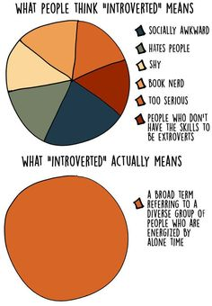 Have you ever wondered how an introvert leads his or her life? Anna Borges created 17 interesting graphs below that define the life of an introvert. Introvert Quotes, Introvert Problems, Introvert Girl, Extroverted Introvert, Retro Humor, Mbti Personality, Emotion, Hate People, Shy People