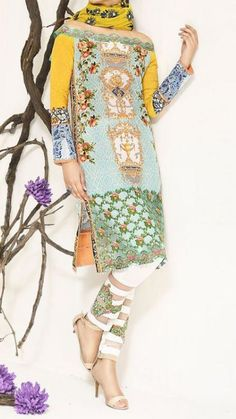 Salwar Kameez, a beautiful Asian dress which suits to the personality of every women of any country. If you want a dress which you can wear in all typr of functions then you have to buy a Salwar… Buy Salwar Kameez Online, Nice Dresses, Summer Dresses, Pakistani Salwar Kameez, Lawn Suits, Pakistani Designers, Pakistani Outfits, Beautiful Blouses, Indian Fashion