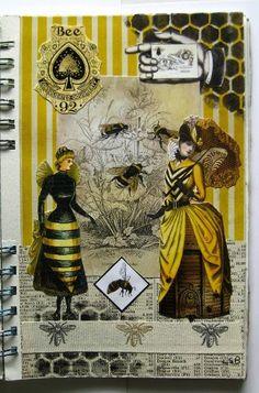 Lisa's Collage Stuff Blog - art journal page