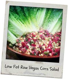 Delicious, colorful, and healthy low fat raw vegan corn salad from http://www.rawnewlife.com #lowfatrawvegan #recipes #rawnewlife