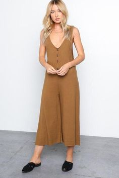 Copper Linen Jumpsuit