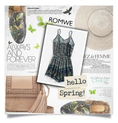 """""""ROMWE : Paisley Romper"""" by ellma94 ❤ liked on Polyvore featuring Gucci, Kate Spade, La Femme and WALL"""
